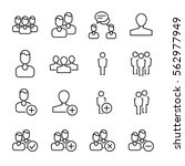 set of people icons in modern... | Shutterstock .eps vector #562977949