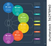 web template of a info chart ... | Shutterstock .eps vector #562978960