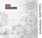 modern technology background... | Shutterstock .eps vector #562979974