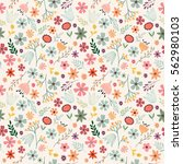 floral seamless pattern with... | Shutterstock .eps vector #562980103