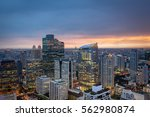 sathorn district with modern... | Shutterstock . vector #562980874