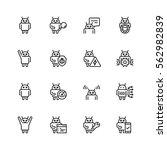 robot or bot related vector... | Shutterstock .eps vector #562982839