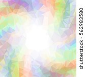 abstract colorful swirl rainbow ... | Shutterstock .eps vector #562983580