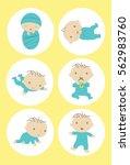 baby milestones | Shutterstock . vector #562983760