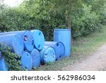 chemical barrels were left by... | Shutterstock . vector #562986034