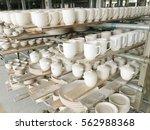 ceramic product rolls in... | Shutterstock . vector #562988368