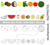 fruit set to find the... | Shutterstock .eps vector #562990753