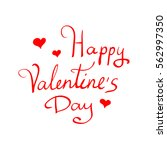 happy valentines day vintage... | Shutterstock .eps vector #562997350