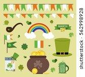 st. patrick's day vector design ... | Shutterstock .eps vector #562998928