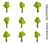 set of tree collection stock...   Shutterstock .eps vector #562999384