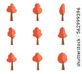 illustration of tree set... | Shutterstock .eps vector #562999396