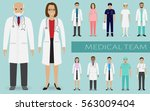 medical team. group of doctors  ... | Shutterstock .eps vector #563009404