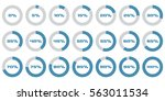set of circle percentage... | Shutterstock .eps vector #563011534