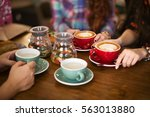 coffee time | Shutterstock . vector #563013880