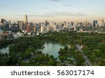 modern building in bangkok city ... | Shutterstock . vector #563017174
