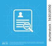 business report icon | Shutterstock .eps vector #563018500