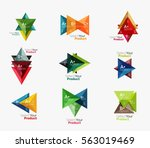 set of triangle layouts with... | Shutterstock .eps vector #563019469