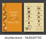 vector illustration sketch hand ... | Shutterstock .eps vector #563020750