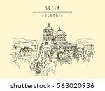 st. alexander nevsky cathedral... | Shutterstock .eps vector #563020936