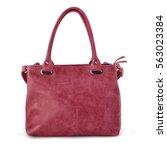 elegant bordeaux leather woman... | Shutterstock . vector #563023384