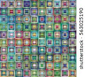 Very Colorful Series Of Square...