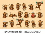 set vector stock illustrations... | Shutterstock .eps vector #563026480
