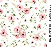 vector seamless pattern with... | Shutterstock .eps vector #563031166