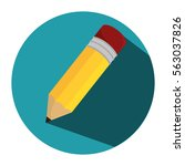 pencil school supply isolated... | Shutterstock .eps vector #563037826