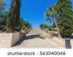 temple columns. kato paphos... | Shutterstock . vector #563040046