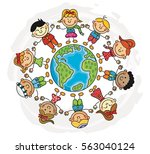 world kids collection | Shutterstock .eps vector #563040124