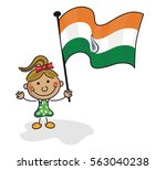 india flag kids collection | Shutterstock .eps vector #563040238