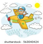 flying kids collection | Shutterstock .eps vector #563040424