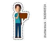 man avatar character with... | Shutterstock .eps vector #563040514