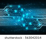 future technology  blue cyber... | Shutterstock .eps vector #563042014