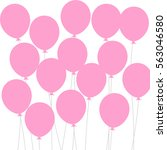 background with pink balloons ... | Shutterstock .eps vector #563046580