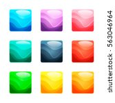 set of colorful rounded square...