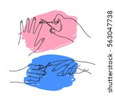 cut nails hand drawn doodle...   Shutterstock .eps vector #563047738