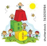 abc kids collection | Shutterstock .eps vector #563050984