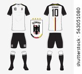 set of soccer jersey or... | Shutterstock .eps vector #563051080