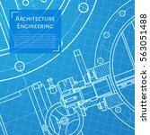 vector technical blueprint of... | Shutterstock .eps vector #563051488