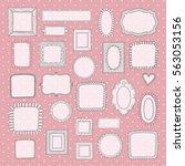 vector set of vintage cute... | Shutterstock .eps vector #563053156