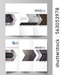 tri fold brochure business... | Shutterstock .eps vector #563053978