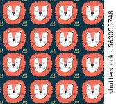lion pattern vector... | Shutterstock .eps vector #563055748
