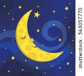 cartoon night sky illustration...   Shutterstock .eps vector #563057770