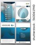 business templates for brochure ...   Shutterstock .eps vector #563061940