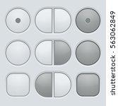 buttons set. user interface...