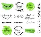 hand drawn logo templates... | Shutterstock .eps vector #563063794