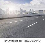 ground road and xiamen skyline | Shutterstock . vector #563066440