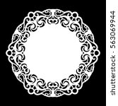 lace round paper doily  lacy... | Shutterstock .eps vector #563069944