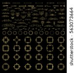 gold vintage decor elements and ... | Shutterstock . vector #563073664